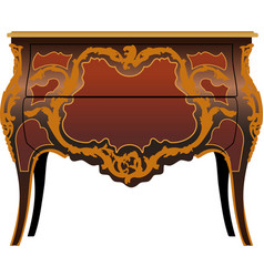antique furniture secretaire vector image vector image