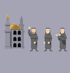 arabian women character vector image