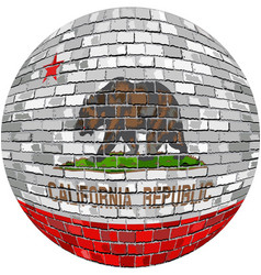 Ball with california flag vector