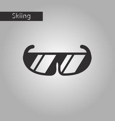 Black and white style icon ski goggles vector