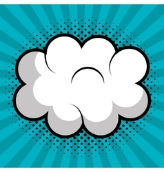 cloud speech pop art design vector image vector image