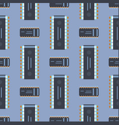 computer ic chip template microchip seamless vector image