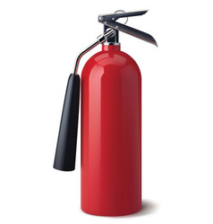 fire extinguisher isolated realistic 3d vector image vector image