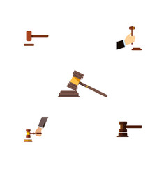 Flat icon court set of crime law court and other vector