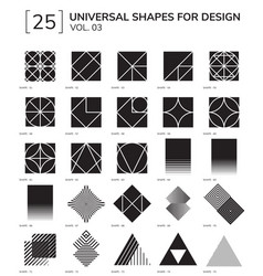 geometric shapes vector image