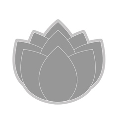 Grey flower icon vector