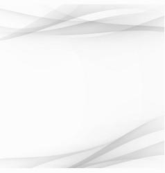 grey futuristic satin swoosh wave lines vector image vector image