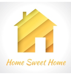 House applique background vector image