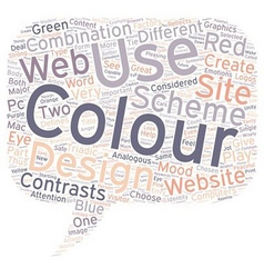How to choose colours for a website text vector image