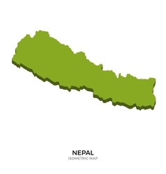 Isometric map of Nepal detailed vector image vector image