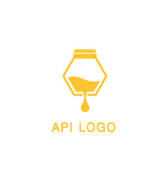 Logo beekeeping honey products api vector