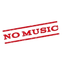No music watermark stamp vector