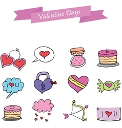 Object valentine day art vector image