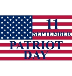 Patriot Day in the United States vector image vector image
