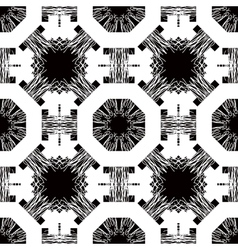 Seamless pattern with white tracery on a black vector