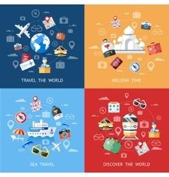 Travel Icon Set vector image vector image