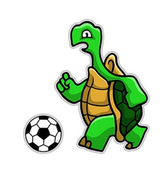 Turtle Soccer vector image vector image