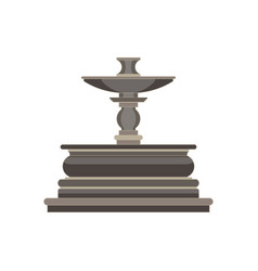 Vintage flat icon tiered fountain isolated on vector