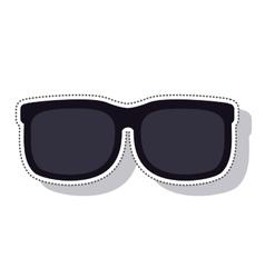 sunglasses black isolated icon vector image
