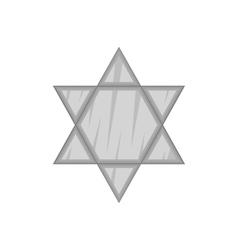 Star Of David icon black monochrome style vector image