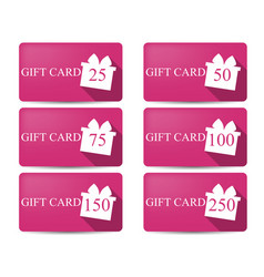 gift card with a gift box in a flat style vector image