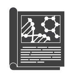 Scientific journal icon vector
