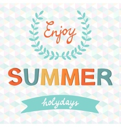 Enjoy summer typography vector