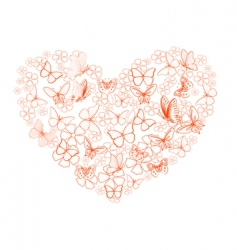 valentine from butterflies vector image
