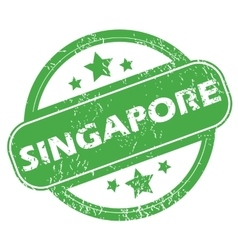 Singapore green stamp vector