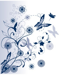 Season floral vector