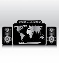 world wide stereo vector image