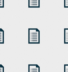Text file icon sign seamless pattern with vector