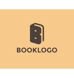 Letter B Book Logo vector image