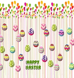 Happy Easter Card Easter eggs vector image