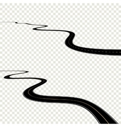 Abstract curved asphalt road isolated on vector