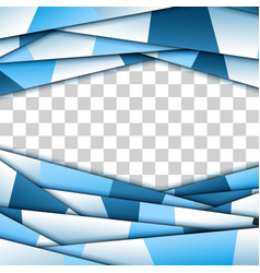 Abstract blue paper frame vector
