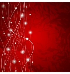 Abstract christmas red background vector image
