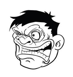 angry fat man black vector image vector image