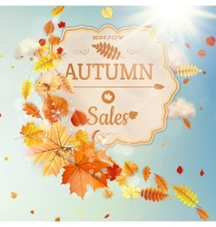 Background on a theme of autumn sale eps 10 vector