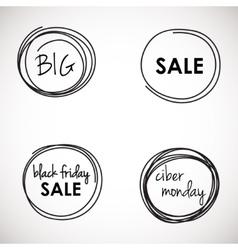Black Friday Sale banners set vector image