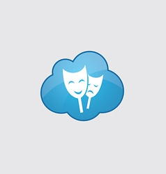 Blue cloud theater icon vector image