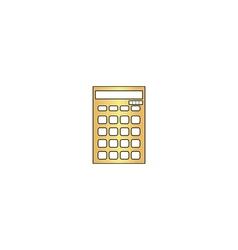 Calculator computer symbol vector image