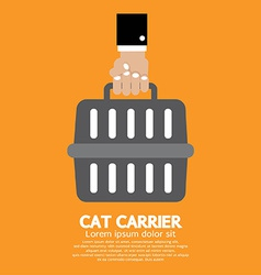 Cat Carrier vector image vector image