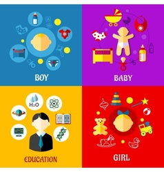 Childhood concept in flat design vector