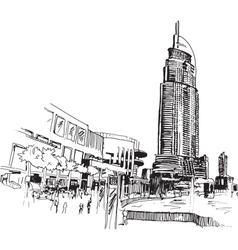 City drawing vector