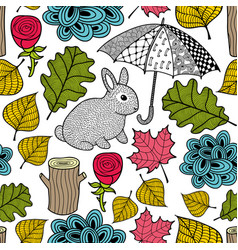 Creative colorful seamless pattern with cute vector