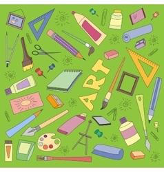 Doodle set of art vector image vector image