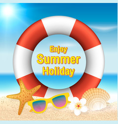 Enjoy summer holiday background season vacation vector