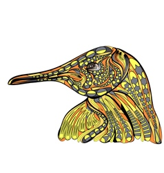 ethnic penguin vector image vector image