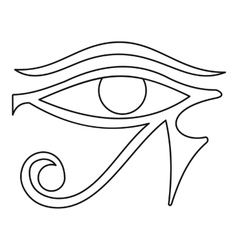 Eye of horus icon outline style vector